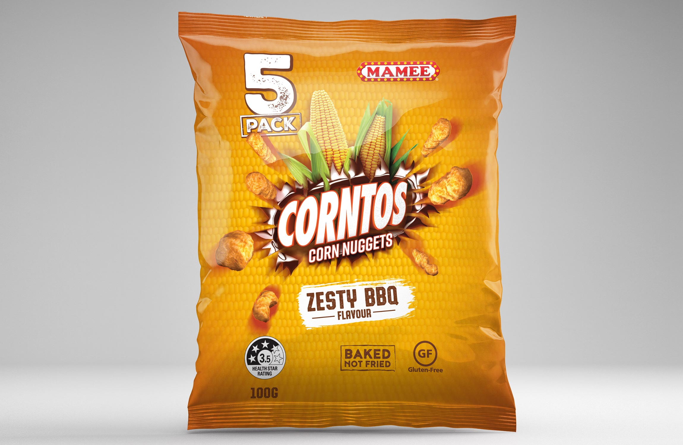 Mamee Corntos BBQ Packaging Design